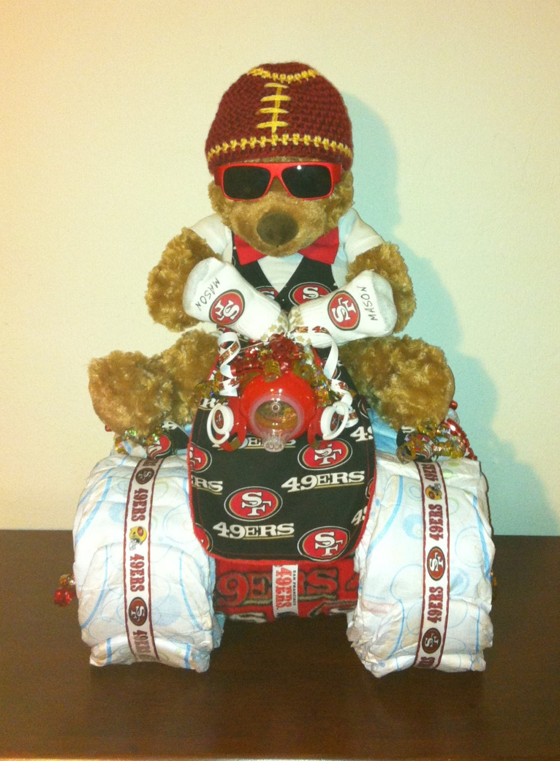 San Francisco baby shower gift /football diaper cake /sports team ...