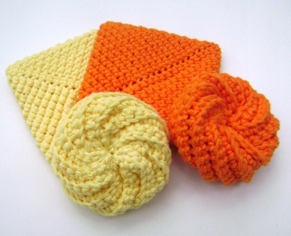 Crochet Kitchen Scrubbies : Crochet Scrubbies Tawashi Cotton Scrubbies Kitchen Bath Face Scrubbies ...