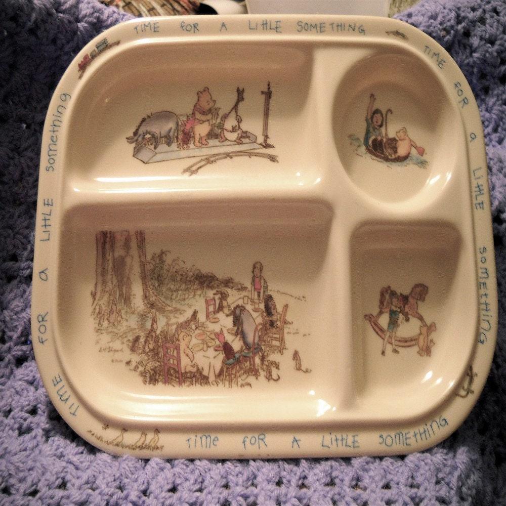Winnie the Pooh Food Tray - VINTAGE
