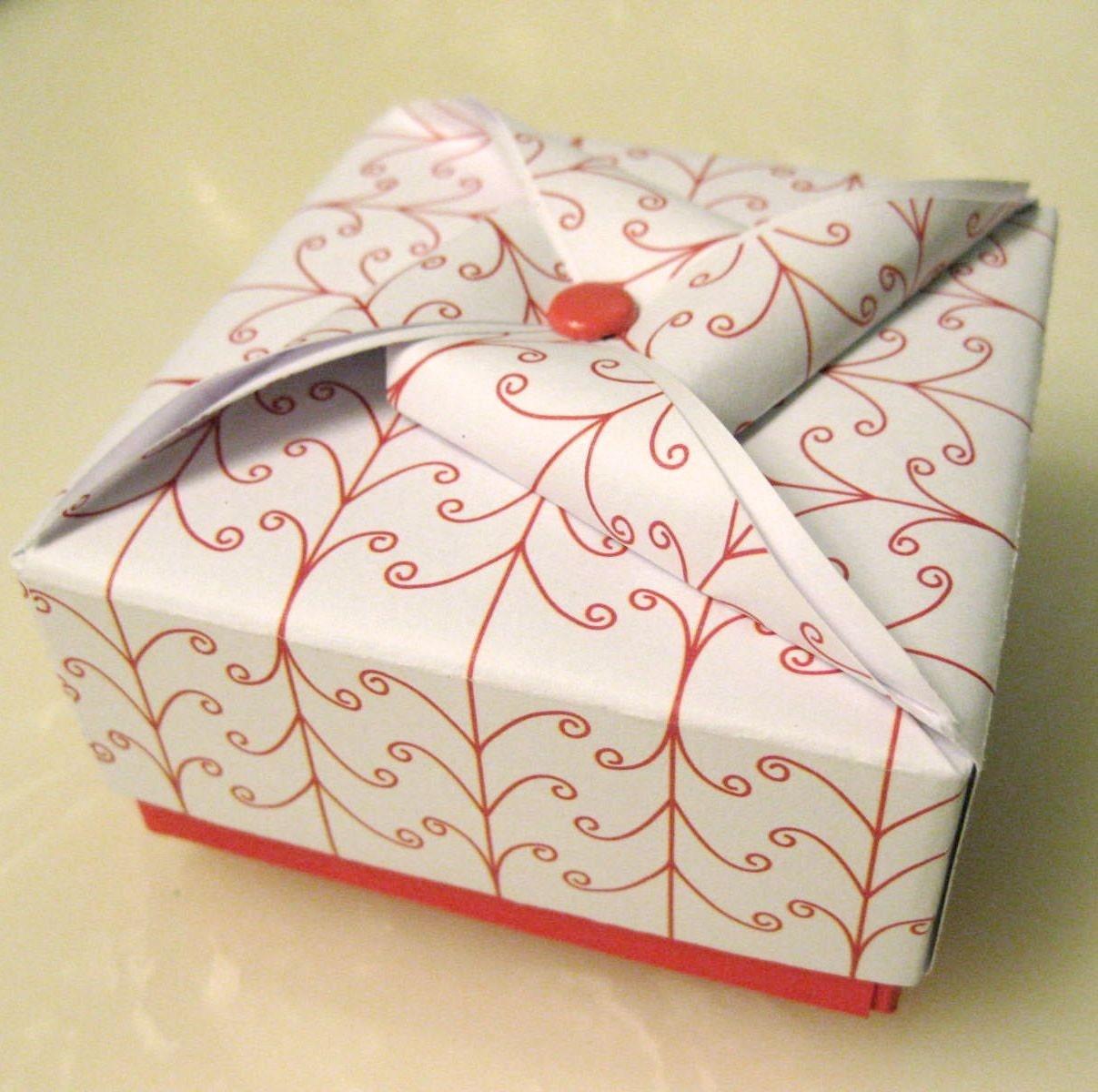 papierblumen falten origami boxes. Black Bedroom Furniture Sets. Home Design Ideas