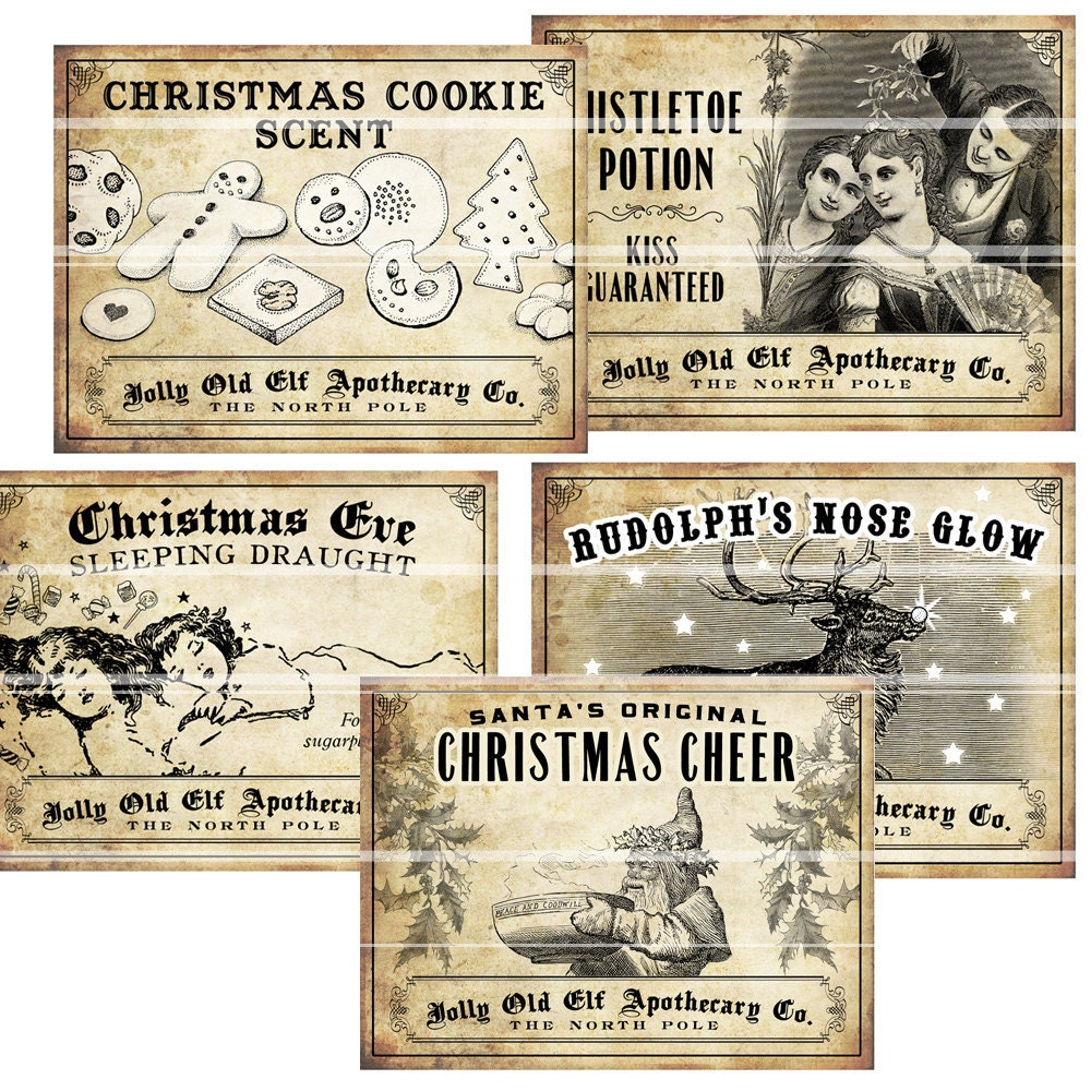 Free Christmas Wine Labels | just b.CAUSE