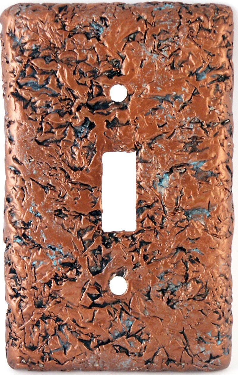 Textured Faux Copper Light Switch Plate