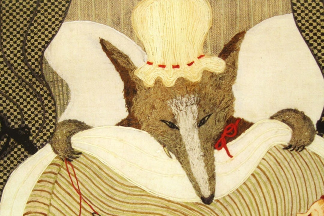 Vegetarian Recipes For Wolves, Print from Original Textile Art