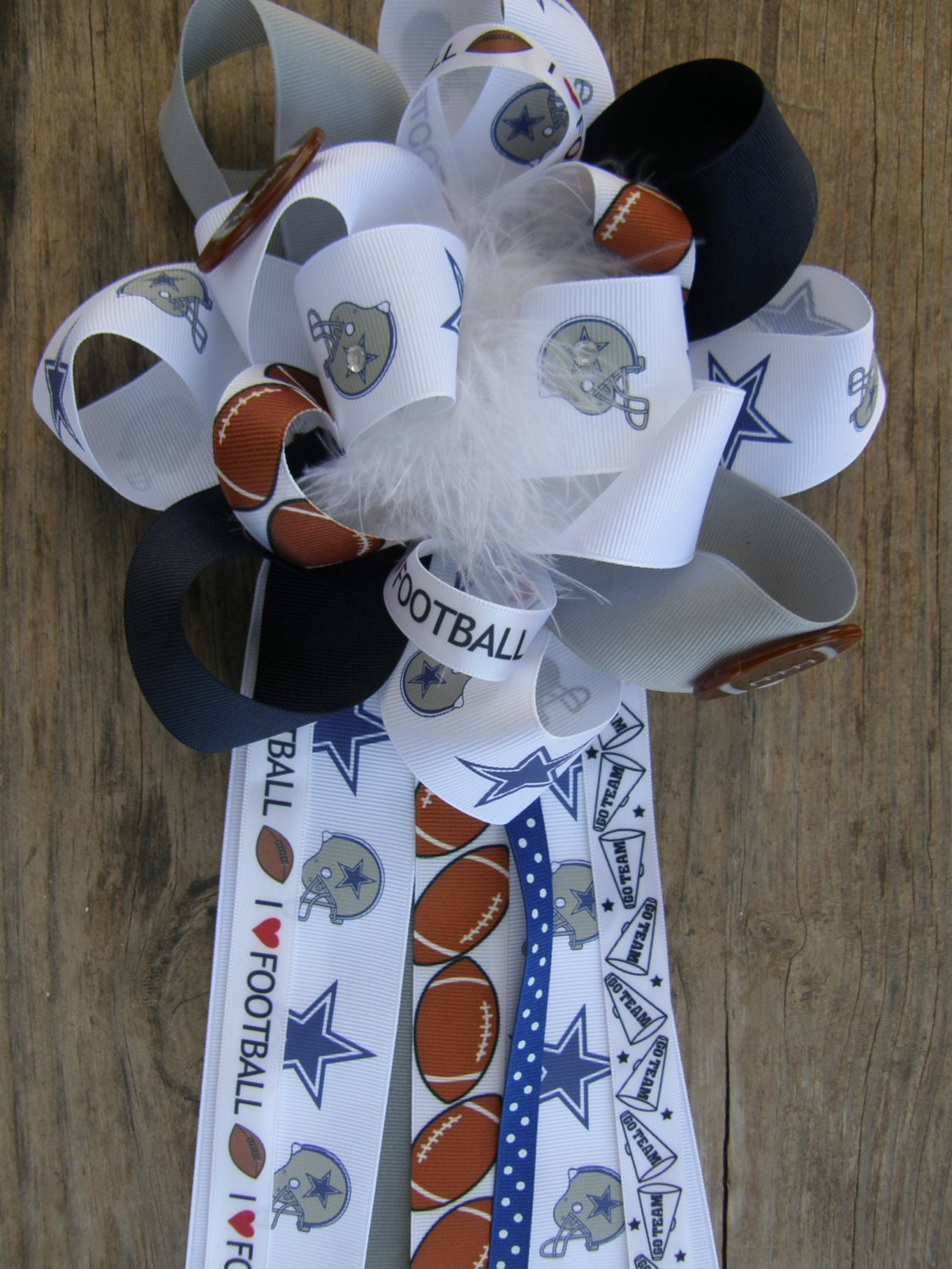 Dallas Cowboys Cowboys Corsage Cowboys Baby Shower By Bonbow