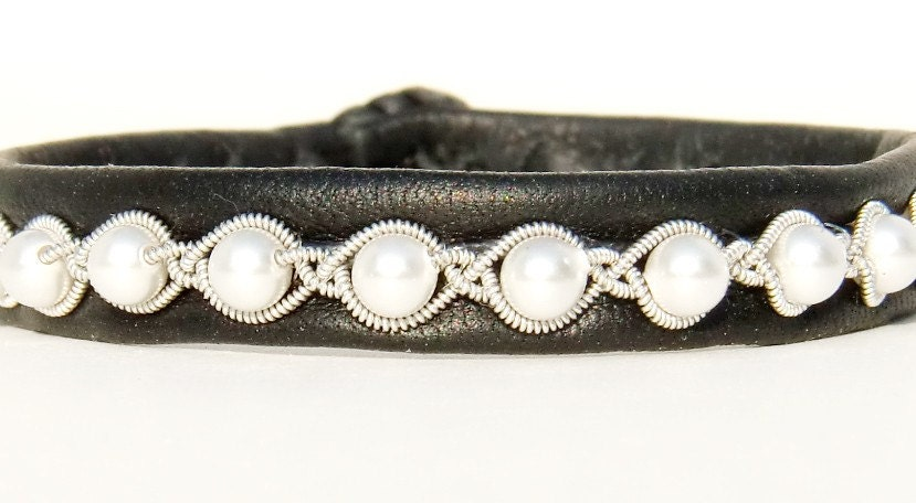 bracelets handmade: beautiful leather bracelet