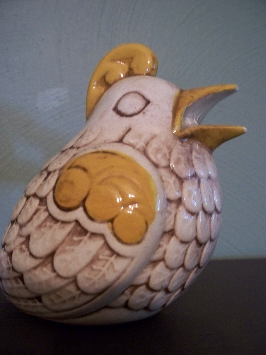 vintage ceramic rooster -  for kitchen use or potpourri