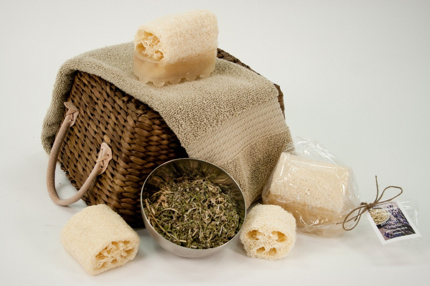 Natural Luffa Massage Soap