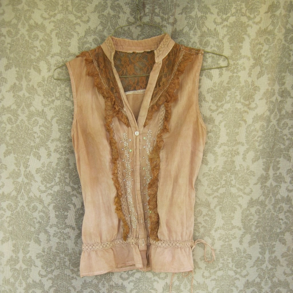 Rich Creme Brulee Eco Lace Tank