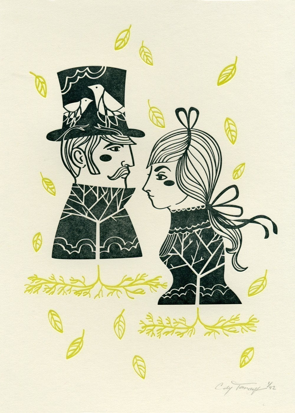 Kind Mr and Mrs Letterpress Print