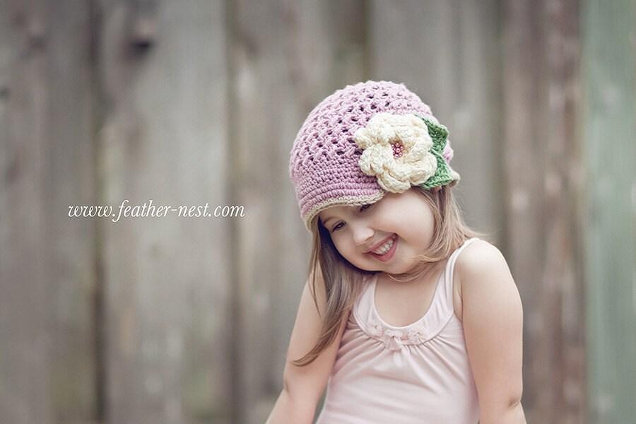 Blushing Beauty vintage rosy pink visor hat