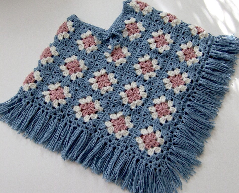 GRANNY SQUARE CROCHET PONCHO PATTERN - Crochet ? Learn How ...