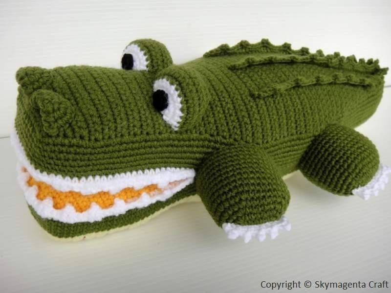 Crochet Pattern - ALLIGATOR - Toys / PDF