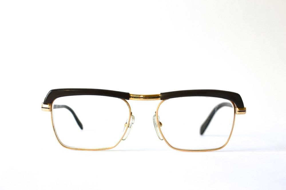Eyeglass Frame In German Language : Items similar to Vintage nerd glasses black West German ...
