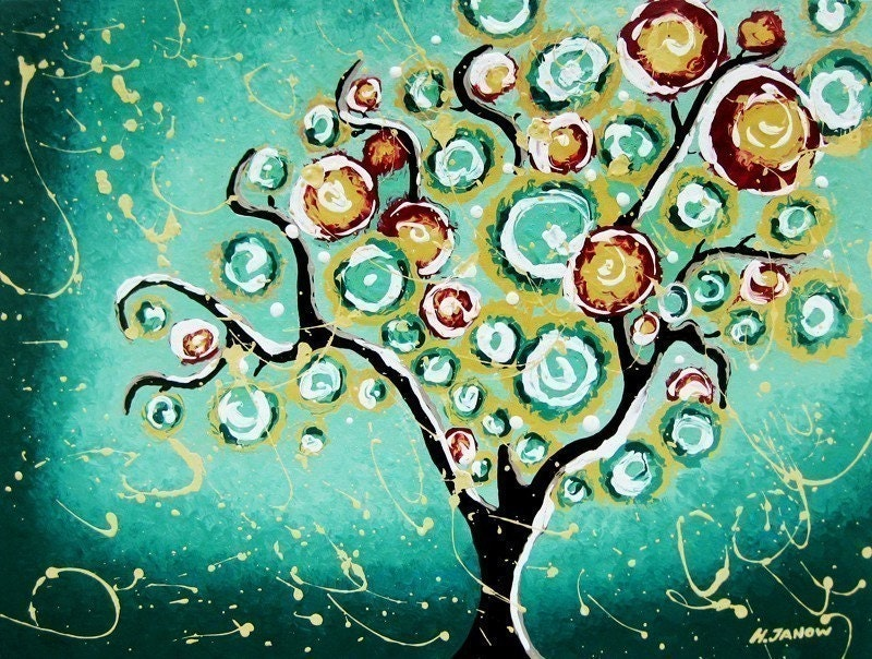 Fine Art Prints Turquoise Tree of Life Christmas