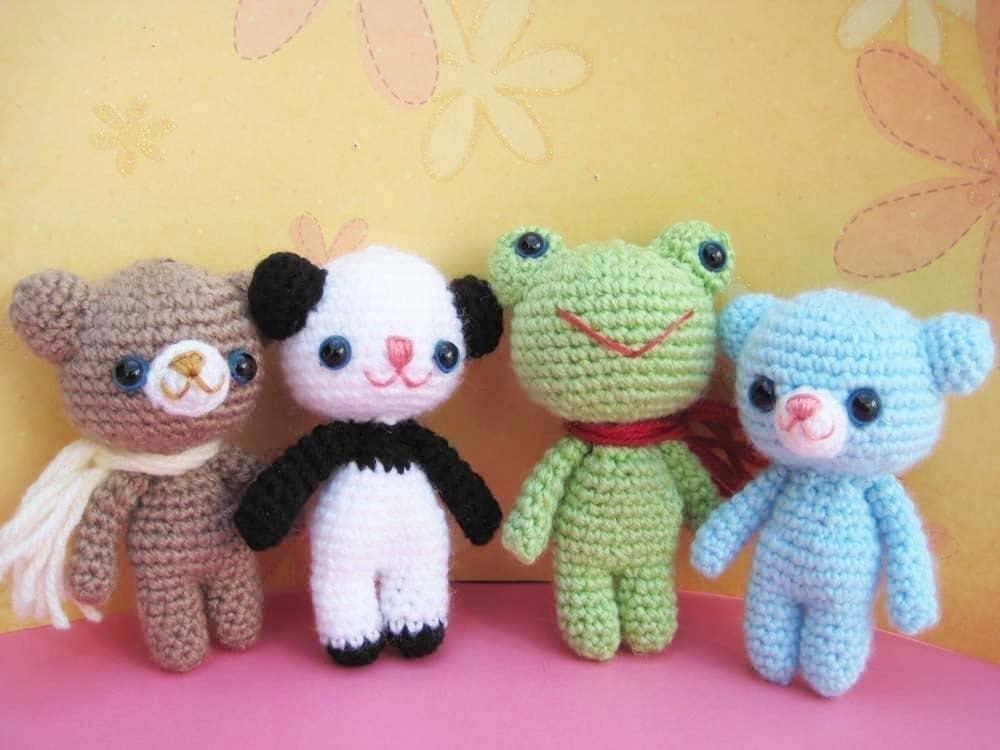 pdf  amigurumi crochet pattern bear teddy panda by jennyandteddy from etsy.com