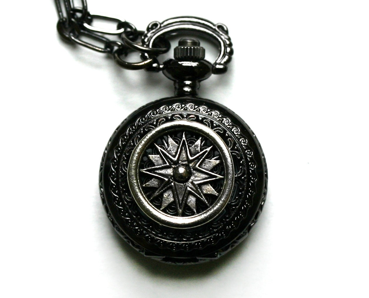 compass pocket necklace by robinhoodcouture on etsy