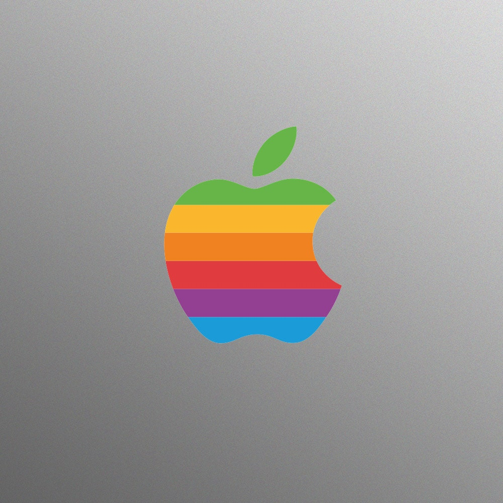Retro Apple Logo Decal Laptop Sticker for Apple MacBook  Pro  Air