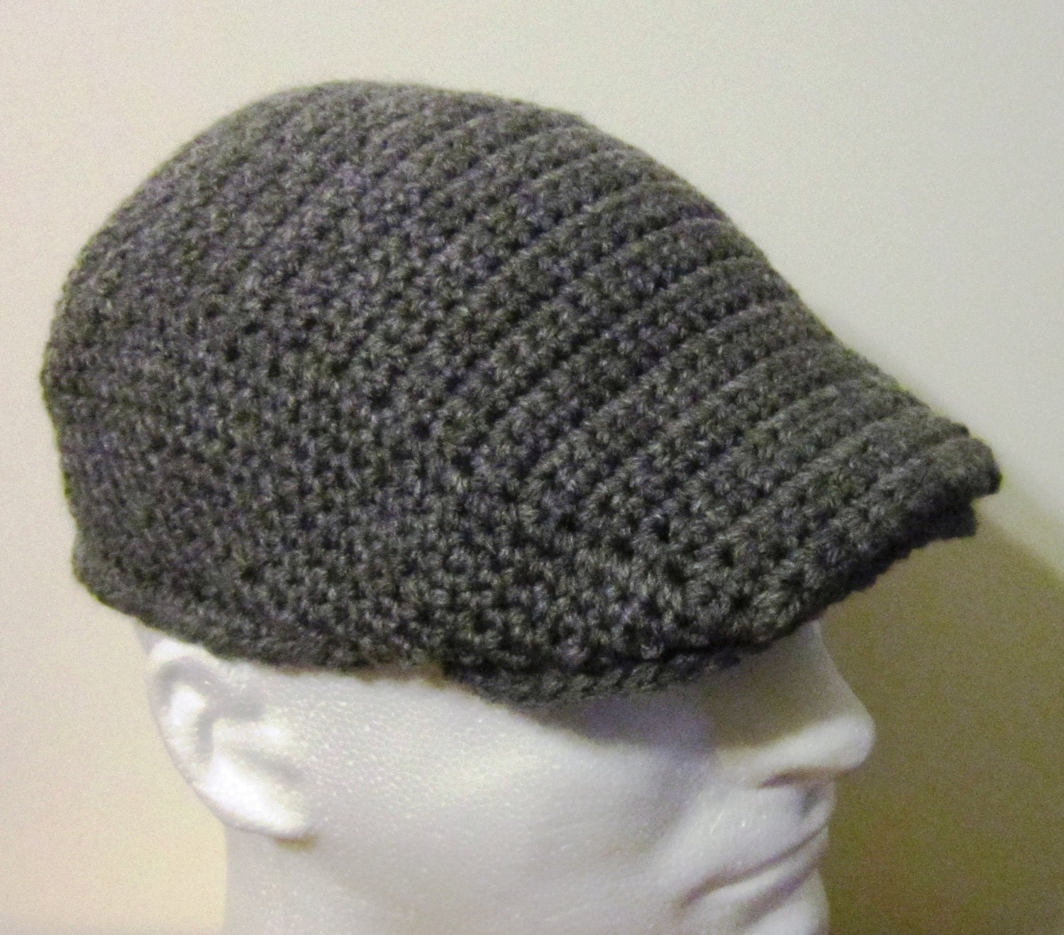 Crochet Newsboy Cap / Hat: You Choose The Color - Crochet Kangol ...