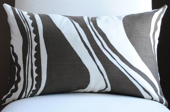 NEW Beautiful Carmel Coastline Print-12x18-Tobacco-Trina Turk-OUTDOOR FABRIC-Both Sides-Decorative Pillow-Toss PIllow - NelsonDesign