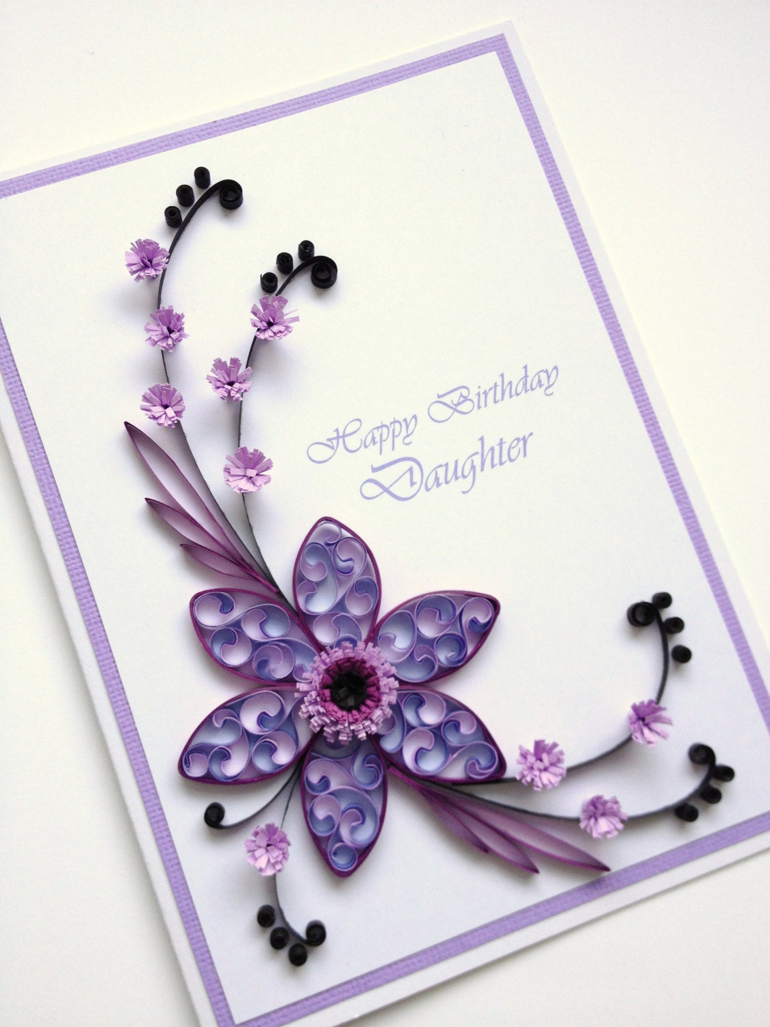 Paper Quilling Happy Birthday Daughter Card Quilled By Joscinta