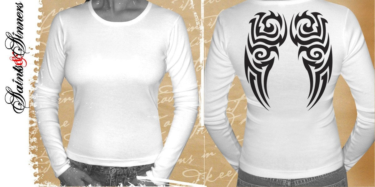 tribal tattoos of angel wings. Sexy black tribal tattoo ANGEL