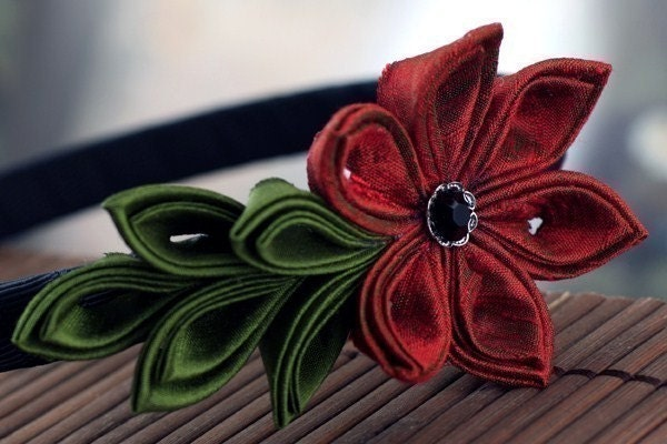 Rambling Rose - Silk Tsumami Kanzashi Flower Headband
