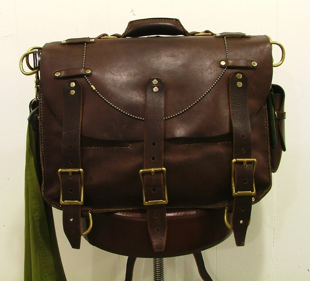 Antiqued Leather Briefcase