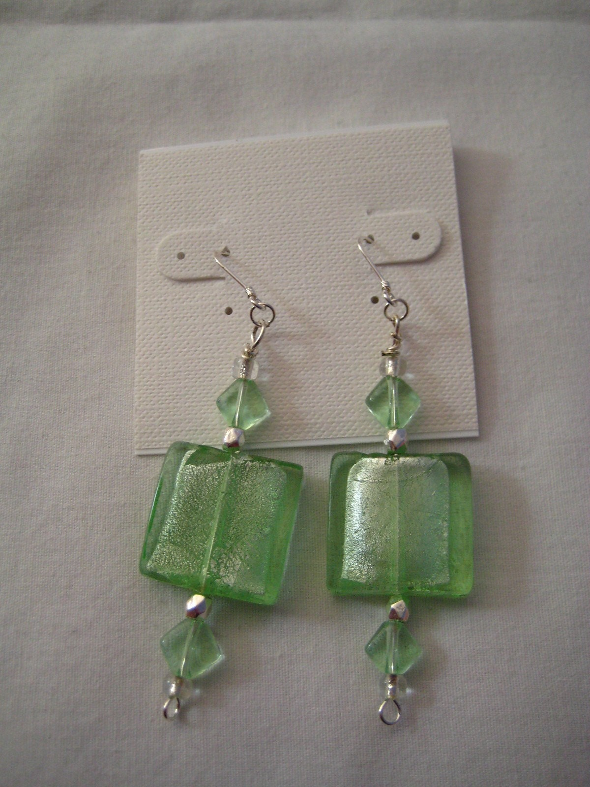 Pastel Green Jolly Rancher Earrings