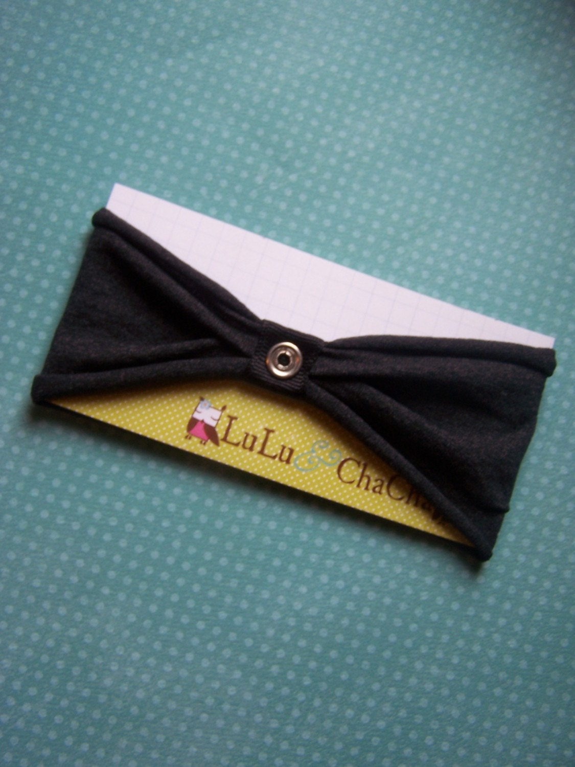 Dark Grey--Interchangeable SNAP headband