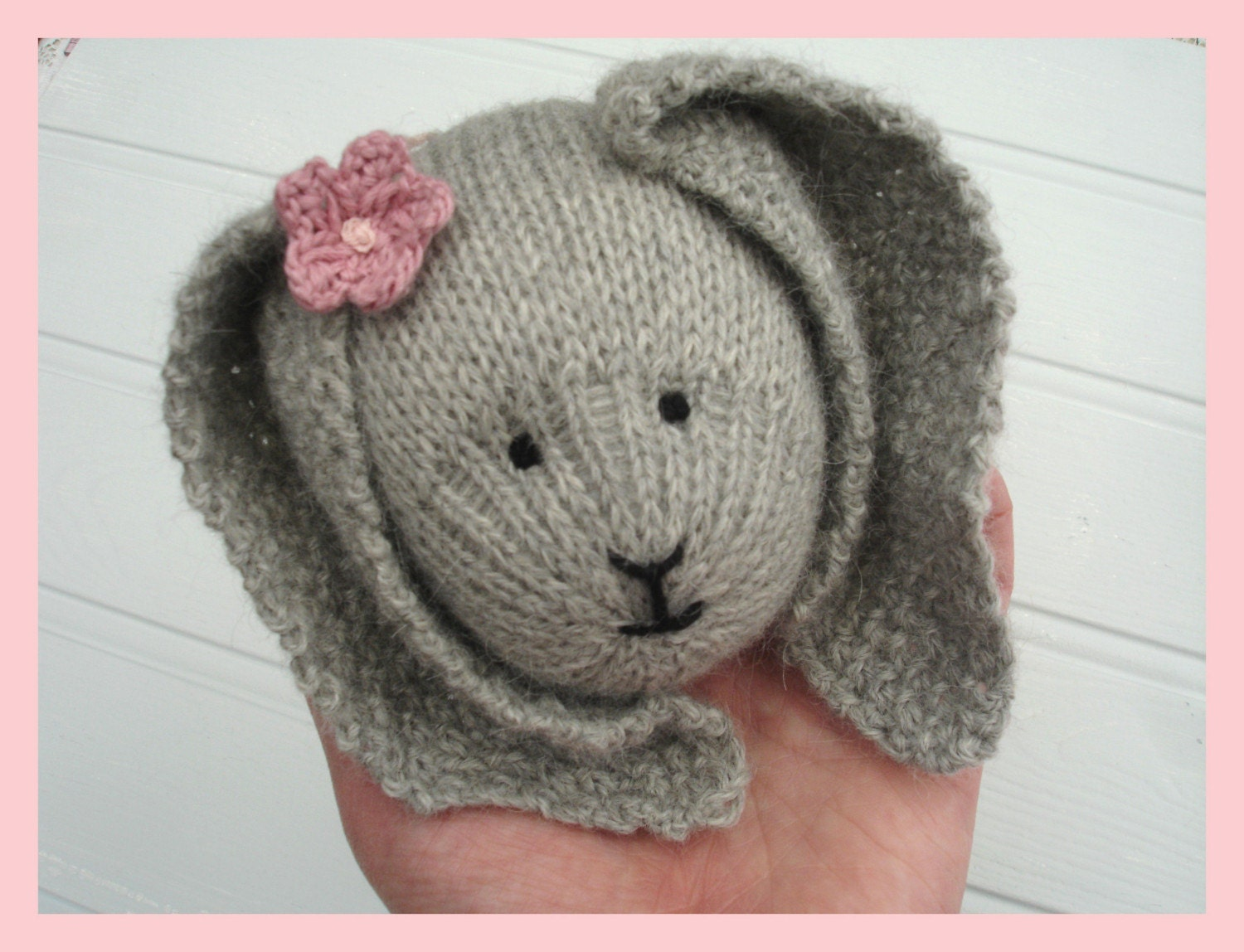 PRIMROSE RABBIT / BUNNY Knitted Toy PDF Email Pattern/ Toy Knitting Pattern