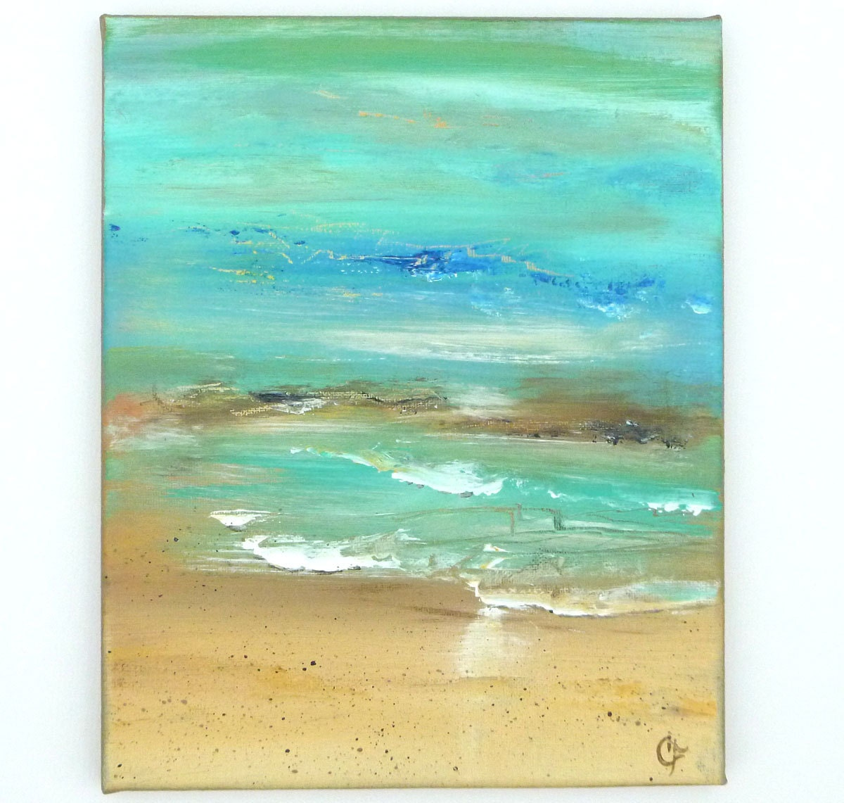 Easy To Paint Canvas Ideas Beach