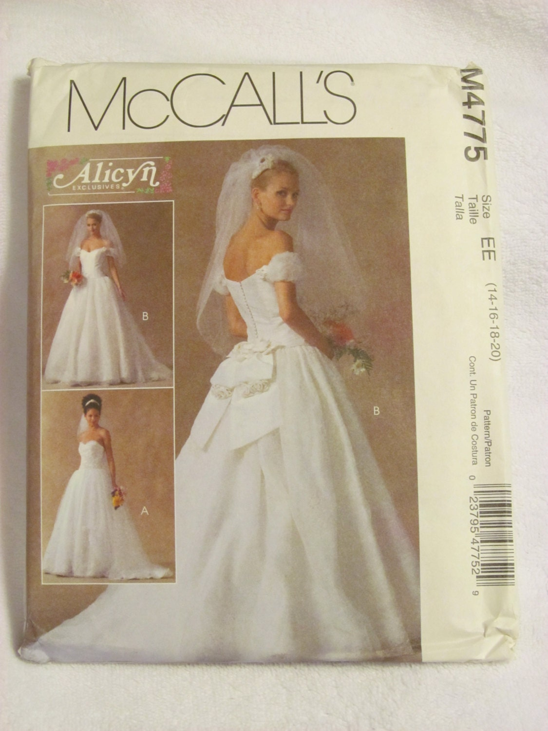 Items Similar To McCall 39 S M4775 UNCUT Pattern Wedding Gown Bridal Gown