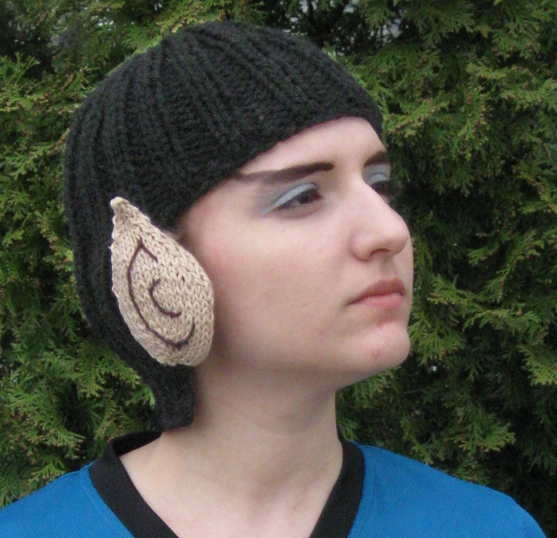 Knit Vulcan Hat by FiveCornersDesign