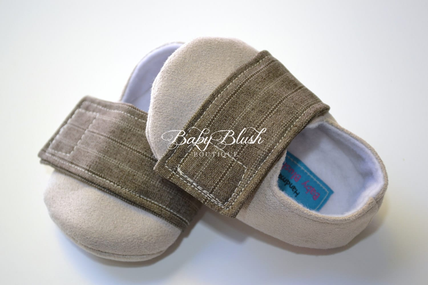 Beige Brown Baby Boy Soft Soled Baby Shoes by