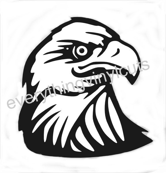 "Eagle Head Silhouette Silhouette ""eagle head"" Eagle Silhouette Vector"