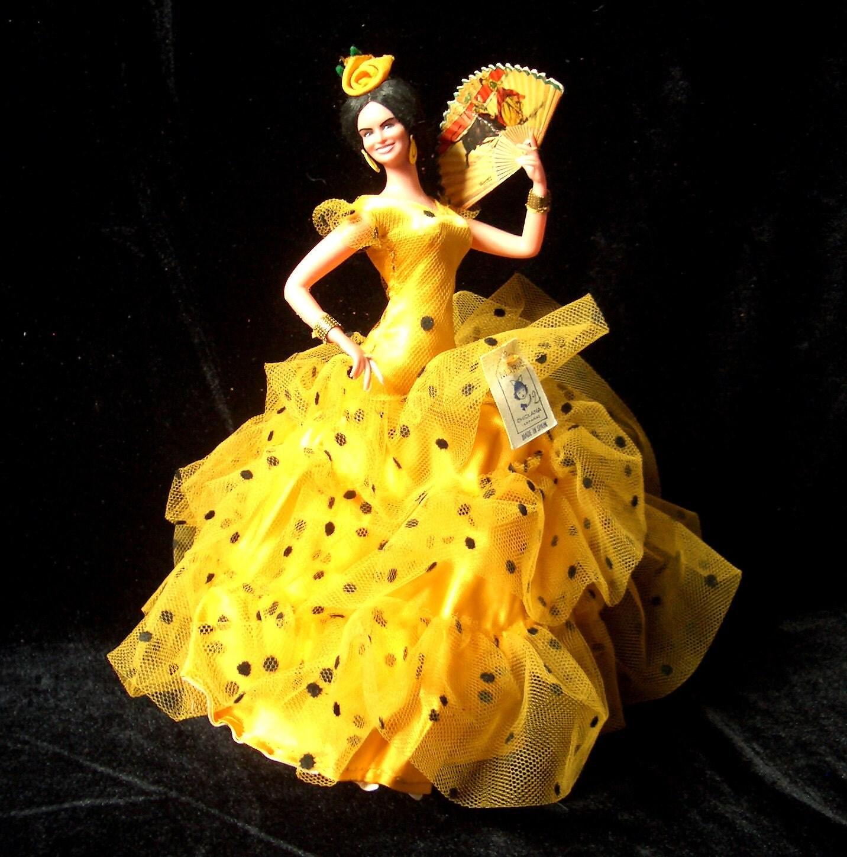 spanish flamenco dancer dolls