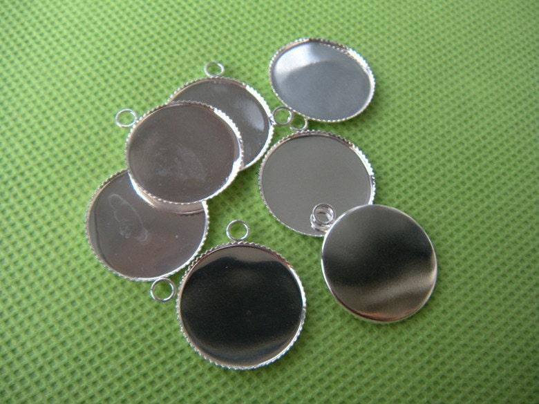 silver pendant tray wholesale 20mm bezel setting blanks by