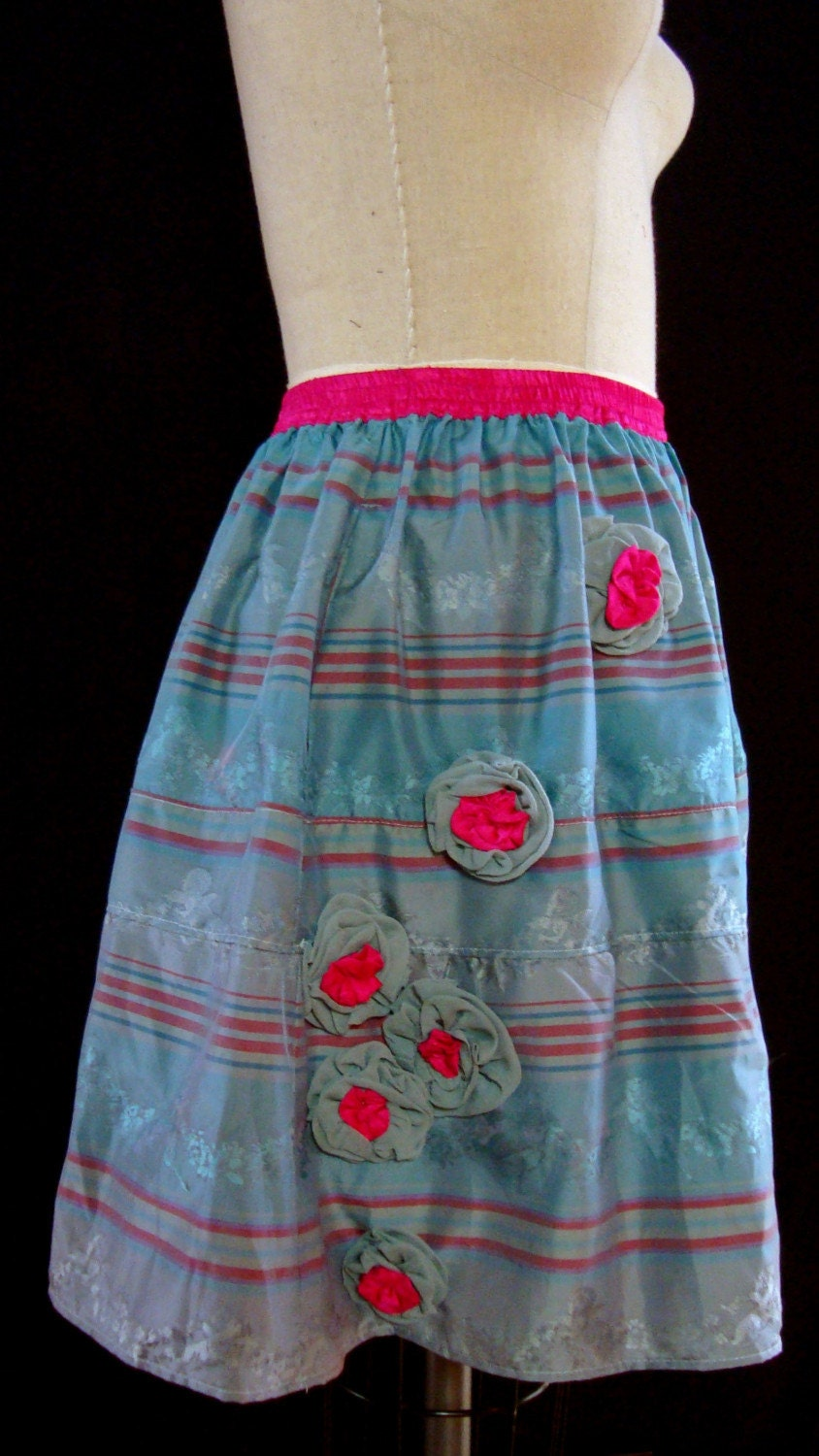 Pretty in Pink and Turquoise Skirt