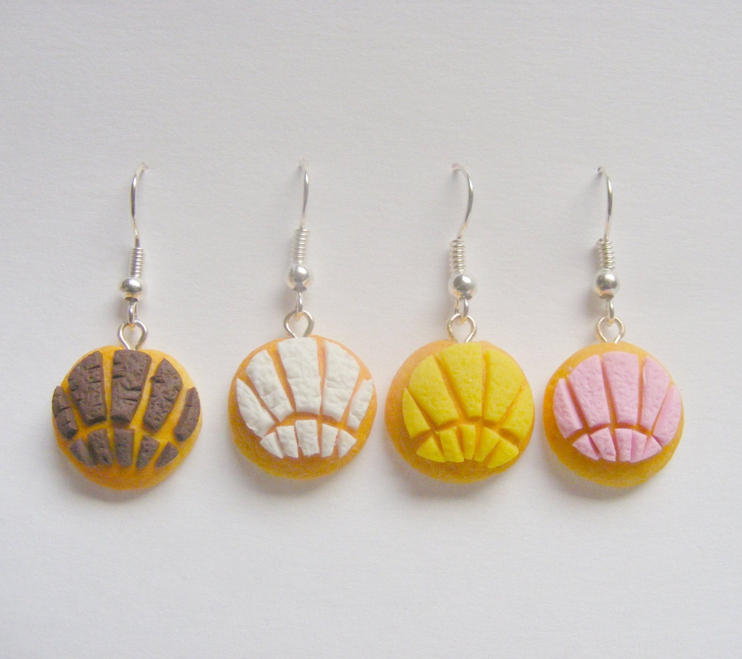 Food Jewelry Pan Dulce Conchas Dulce Concha Miniature Food Mini Food Concha Earrings Food Jewellery Mexican Food Polymer Clay Food