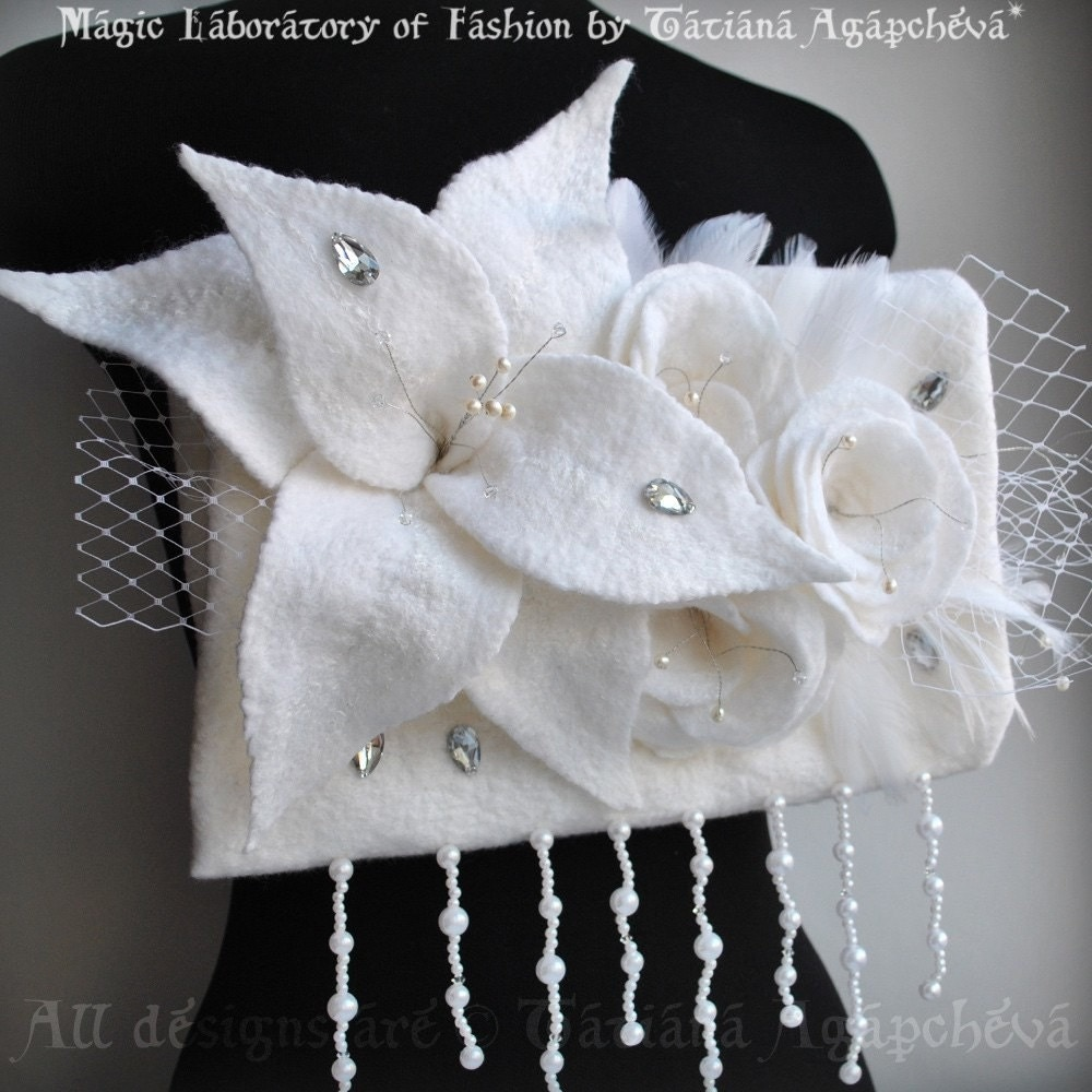 Lady Galadriel Bridal Bouquet Muff / Purse / Clutch by TianaCHE