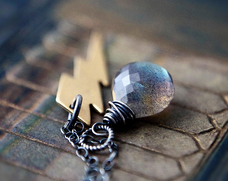 Thunder Lightning Gemstone Jewelry Labradorite Storm - PoleStar