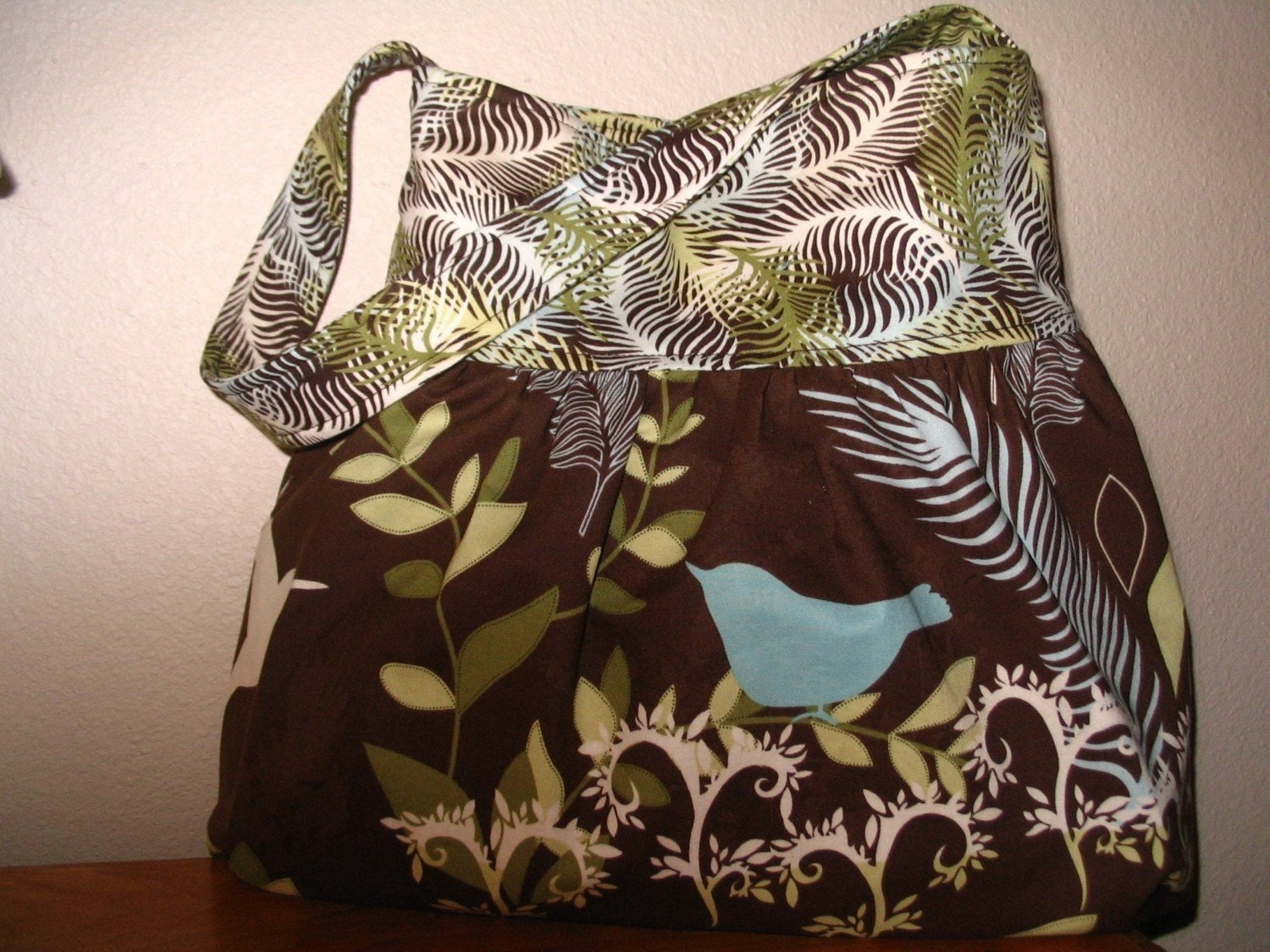 Gathered Shoulder Boutique Bag in Nature-ology