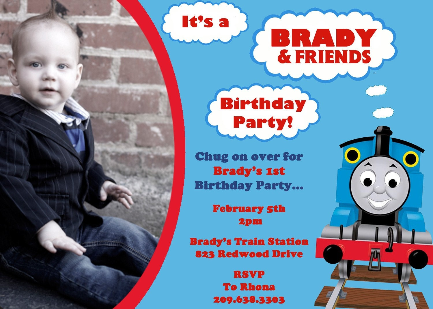 Thomas The Train Party Invitations is one of our best ideas you might choose for invitation design