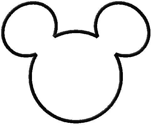 large mickey mouse head template - hand made by rianna invites minnie mouse theme tutorial
