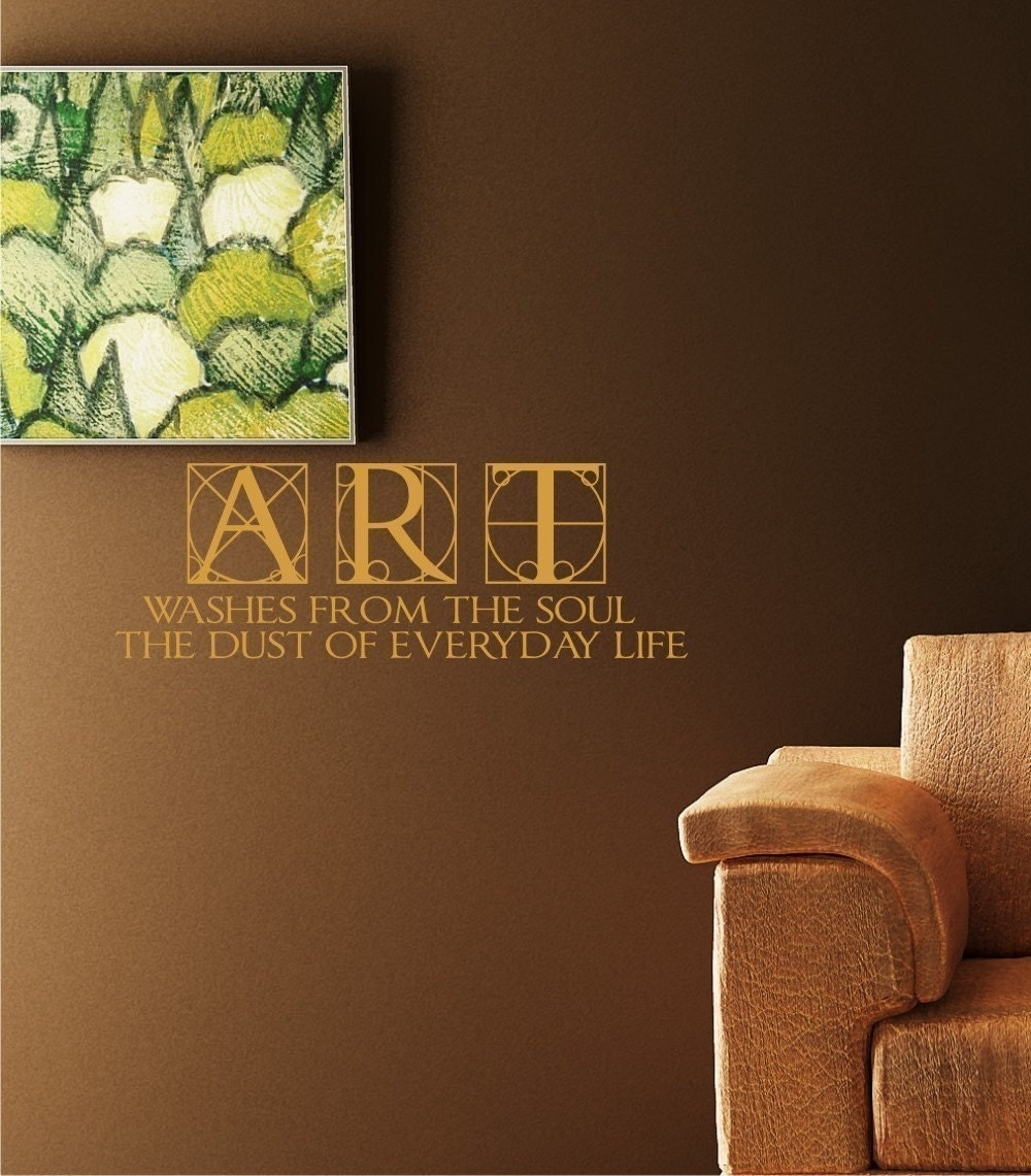 Wall Decoration Text : Art soul life vinyl text wall words decals by