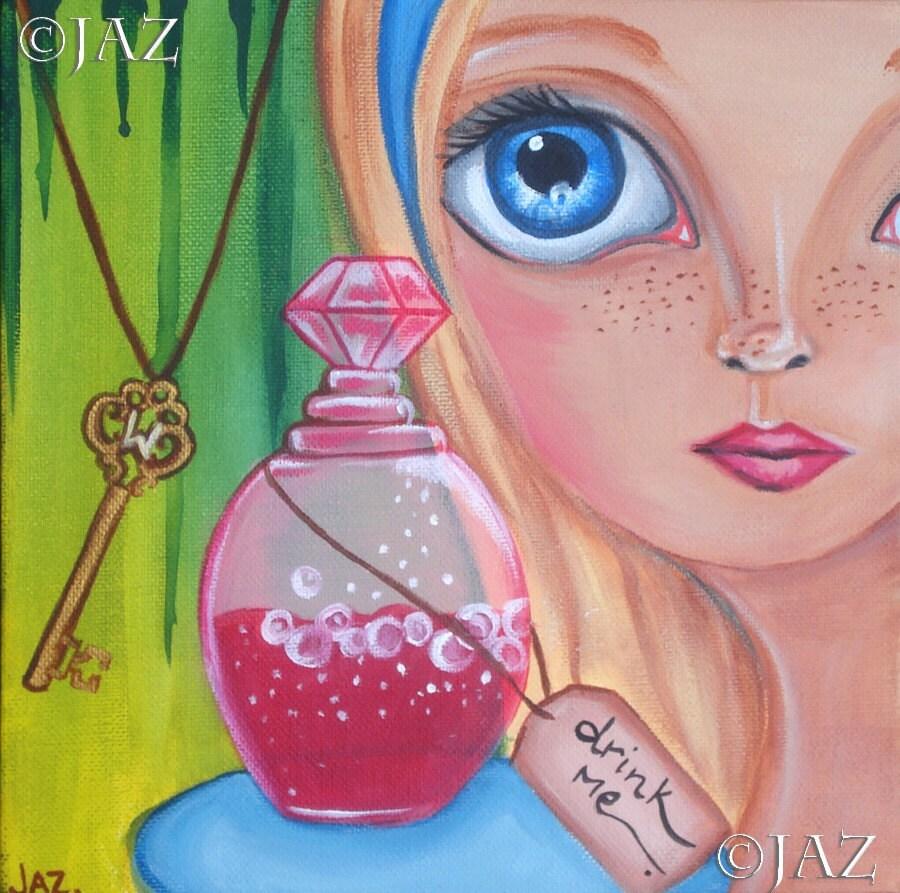 ART PRINT - Drink Me - by Jaz - 8x8
