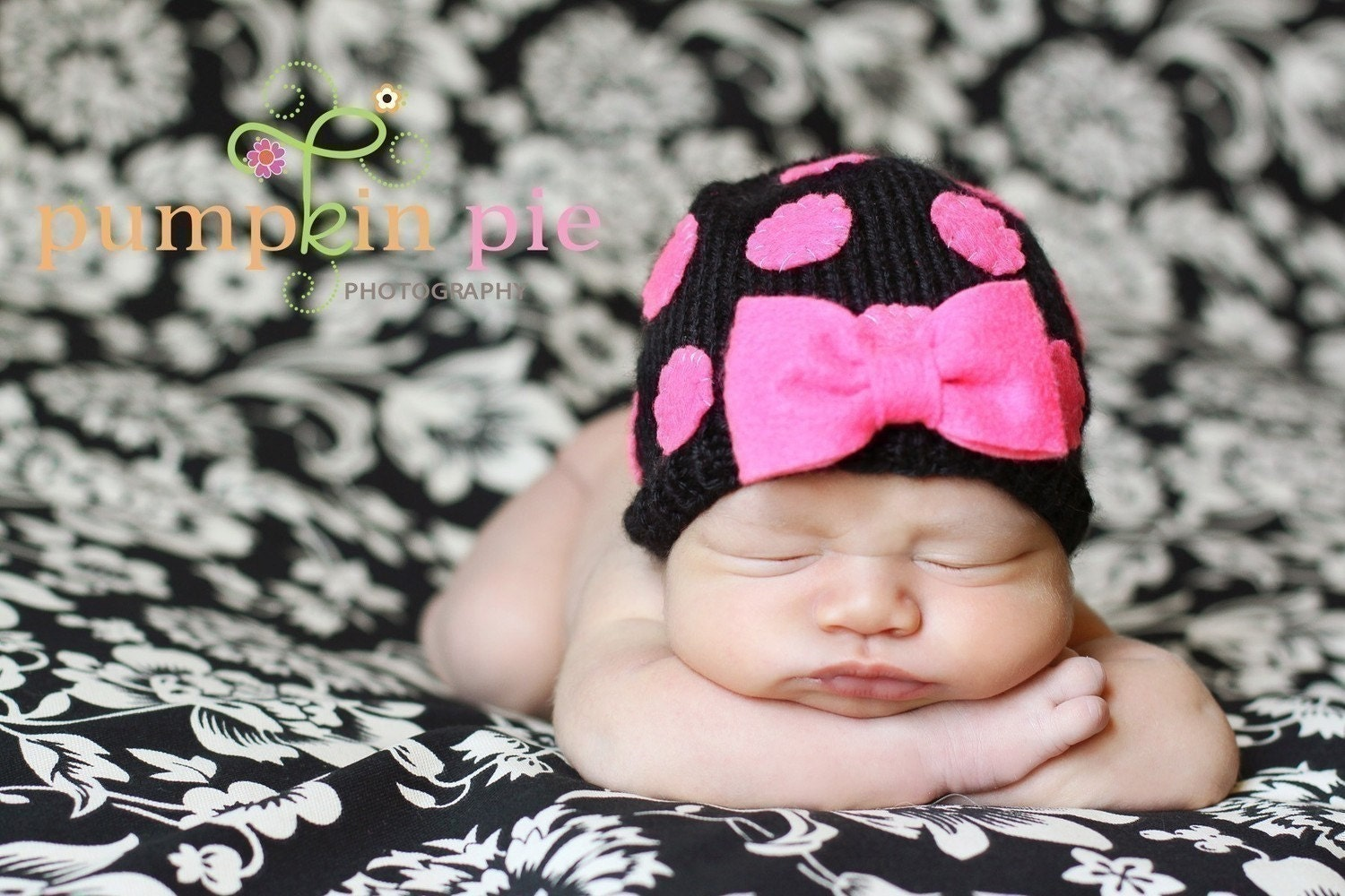 HOTPINK BABY BEANIE Newborn Size-Made to order only