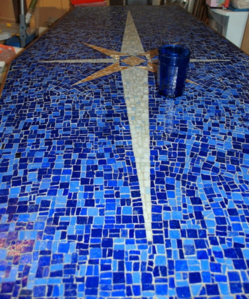 azur mosaic star dining room coffee table made by