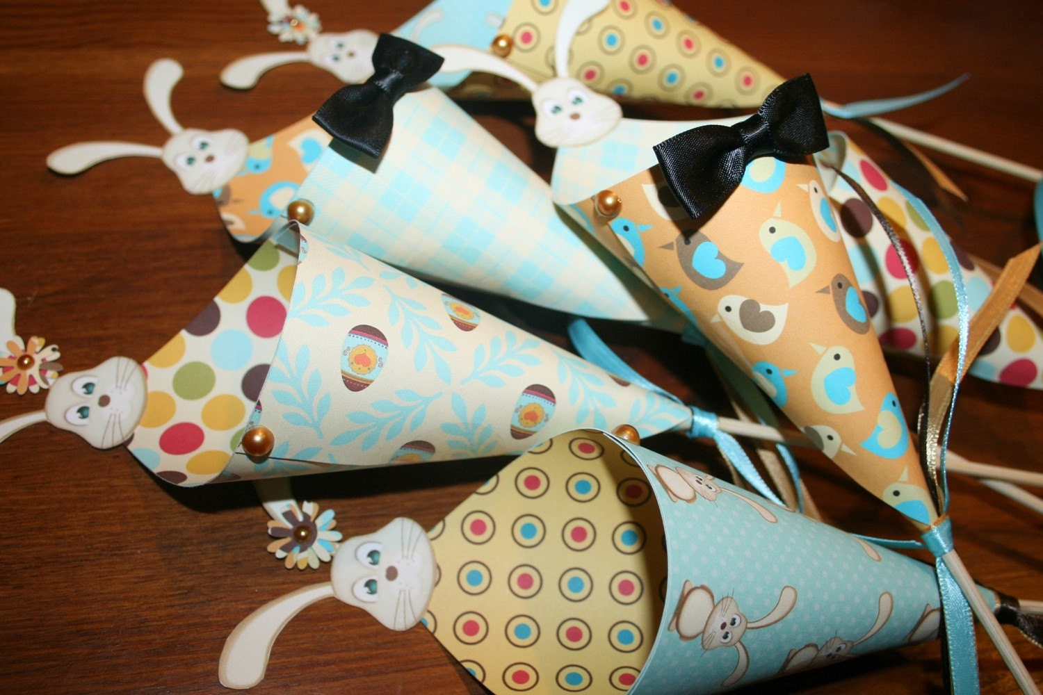ONE DOZEN Easter Bunny Kandy Kones
