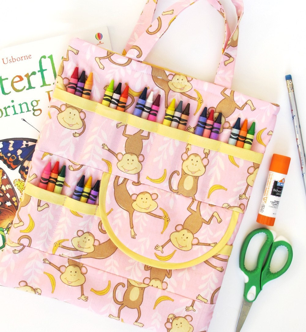 Crayon and Craft Bag-  a PDF sewing pattern - free shipping - patternplay